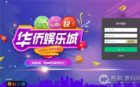 最新华侨城完美修复版源码+带wap手机端+开奖+采集