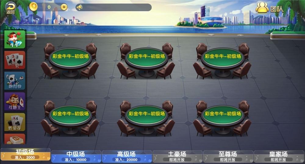 二开五游大联盟棋牌组件 大桌子+带导航分类+带机器人+热更新 棋牌源码 第4张